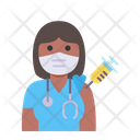 Woman Doctor Vaccination Icon
