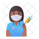Woman Doctor Vaccination Medic Doctor Icon