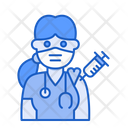 Woman Doctor Vaccination Medic Woman Icon