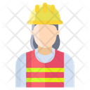 Gwoman Electrician Woman Electrician Female Icon