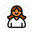 Employee Woman Candidate Icon