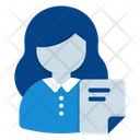 Woman Employee Resume Icon