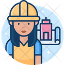 Woman Engineer Icon