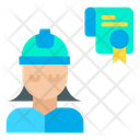 Woman Engineer Certificate Icon