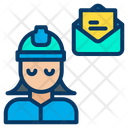 Woman Engineer Message Icon
