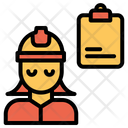 Woman Engineer Note Icon
