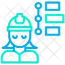 Woman Engineer Timeline Icon