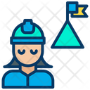 Woman Engineering Achievement Icon