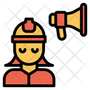Woman Engineering Announcement Icon
