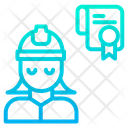 Woman Engineering Certificate Icon