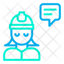 Woman Engineering Chat Icon