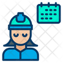 Woman Engineering Event Icon