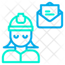 Woman Engineering Message Icon
