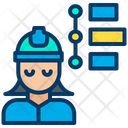 Woman Engineering Timeline Icon