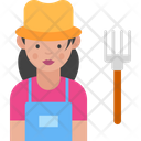 Woman Farmer Female Farmer Woman Icon