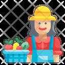 Woman Farmer Farmer Woman Icon