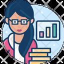 Woman Financial Analyst Financial Analyst Analyst Icon