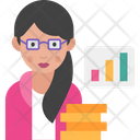 Woman Financial Analyst Icon
