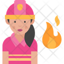 Woman Firefigter Icon
