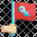 Woman Flag Icon
