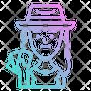 Woman Gambler Icon