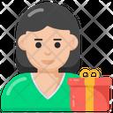 Woman Present Woman Gift Surprise Icon