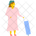 Woman Luggage Suitcase Icon