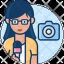 Woman Journalist Icon