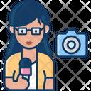 Woman Journalist Female Journalist Journalist Icon