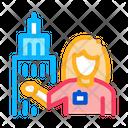 Woman Landmark Guide Icon