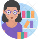 Woman Librarian Female Librarian Woman Icon