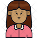 Woman Long Hair Avatar Icon