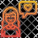 Woman Love Icon