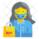 Woman Mask Medical Protection Icon