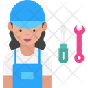 Woman Mechanic Icon