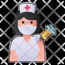 Woman Nurse Vaccination Nurse Woman Icon