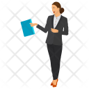 Woman Office Worker Icon