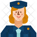 Occupation Avatar Policewoman Icon