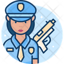 Woman Police Officer Woman Cop Police Officer Icon