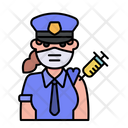 Woman Police Vaccination Icon