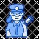 Woman Police Vaccination Police Vaccination Policewoman Icon
