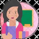 Woman Professor Woman Teacher Femlae Professor Icon