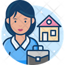 Woman Real Estate Agent Icon