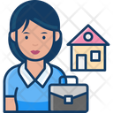 Woman Real Estate Agent Real Estate Agent Woman Agent Icon