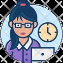 Woman Secretary Icon