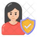 Female Security Woman Security Women Protection Icon