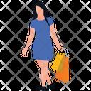 Woman Shopping Shopping Bags Leisure Time Icon