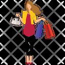 Woman Shopping Shopping Women Women Icon