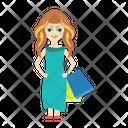 Female Girl Shopping Icon