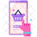 Woman Shopping Online Icon